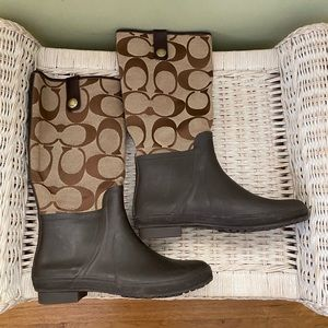 Coach Signature C Rain Boot
